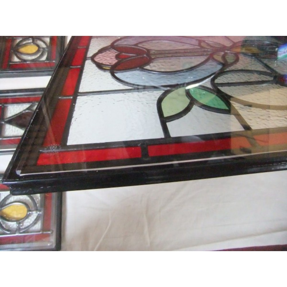 Double glazing of stained glass panels for Double glazed glass panels