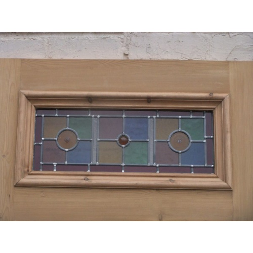 Sd071 exterior 5 panel door with vibrant stained glass for Exterior glass wall panels