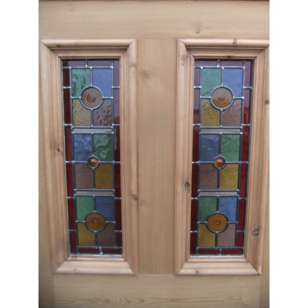Doors sd071 exterior 5 panel door with vibrant stained for Entry doors with glass