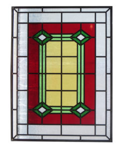 1930s Art Deco Stained Glass Panel