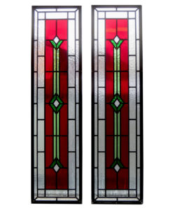 Contemporary Art Deco Stained Glass