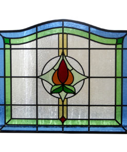 Arched 1930s Stained Glass Panel