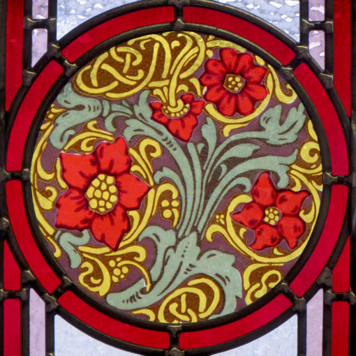 Intricate Art Deco Stained Glass Panels