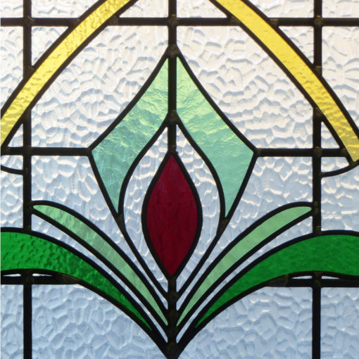 Art Deco 1930s Stained Glass Panel