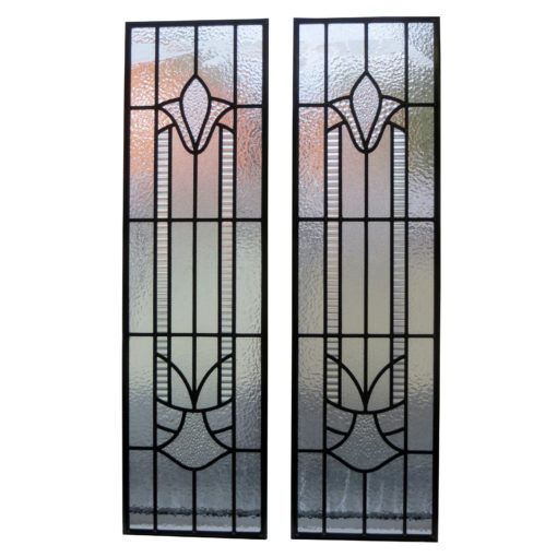 Traditional Art Deco Stained Glass Panels