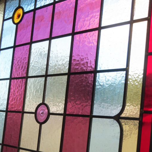 Simple 1930s Stained Glass Panel