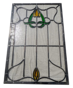Art Nouveau Simple Stained Glass Panel