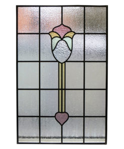 Simple Floral Stained Glass Panel