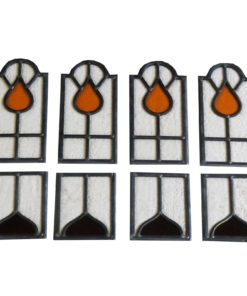 Water Drop Stained Glass Panels