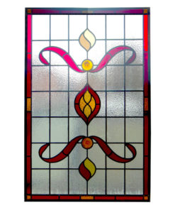 Detailed Nouveau Stained Glass Panel