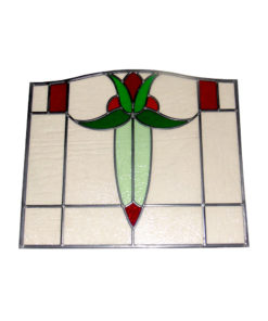 Simple 1930's Stained Glass Panel