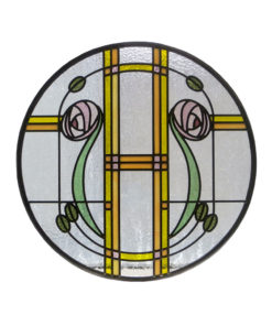 1930s Mackintosh Stained Glass Panel