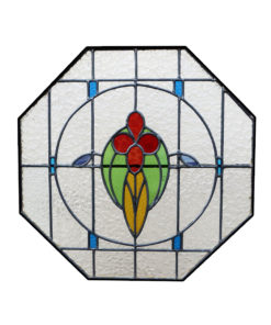 Simple 1930 Stained Glass Panel