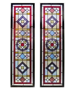 Intricate Traditional Stained Glass Panel