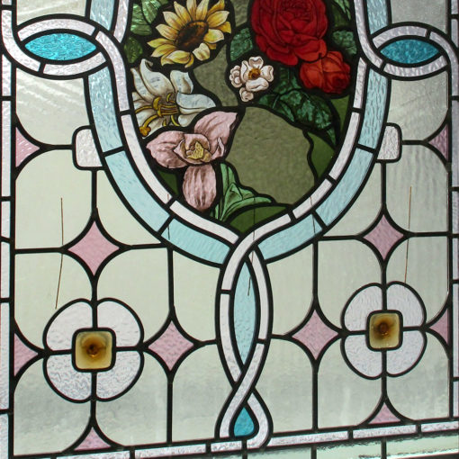 Highly Intricate Victorian Stained Glass Panel