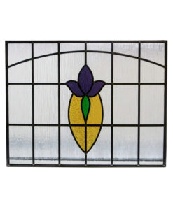 Art Nouveau 1930s Stained Glass Panel
