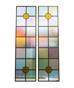 Traditional Colourful Stained Glass Panels