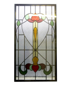 Art Nouveau Traditional Stained Glass Panel