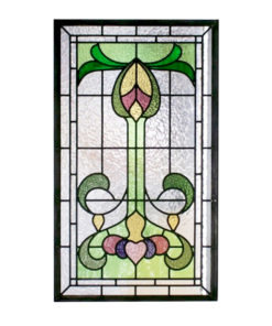 Traditional Nouveau Stained Glass Panel