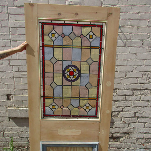 Intricate Victorian Stained Glass Panel