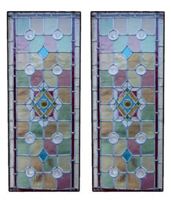 Victorian Intricate Stained Glass Panels