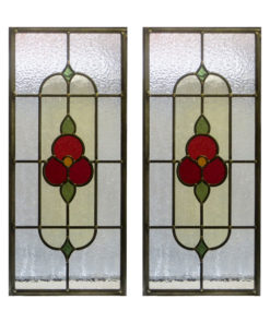 1930 Floral Stained Glass Panel