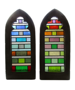 Colourful Contemporary Stained Glass Panels