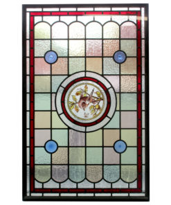 Central Bird Stained Glass Panel