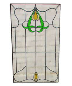 Simplistic 1930s Stained Glass Panel