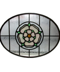 Detailed 1930s Stained Glass Panel
