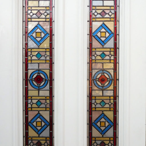 Intricate Edwardian Stained Glass Panels