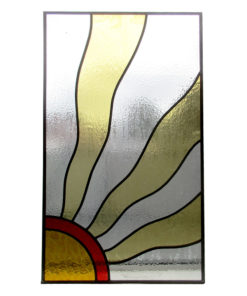 1930s Sun Rays Stained Glass Panel