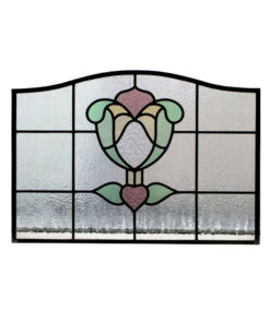 1930s Flower Bud Stained Glass Panel