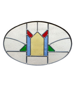 1930s Period Stained Glass Panel