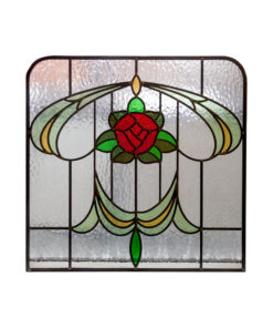 1930s Stained Glass Floral Panel