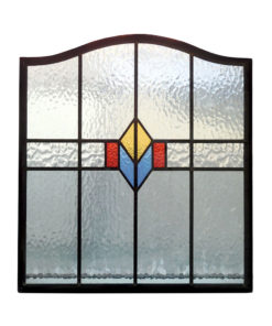 Simple Stained Glass 1930s Panel
