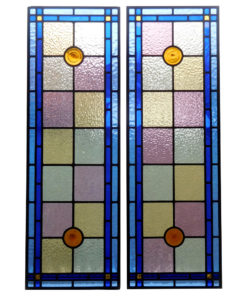Victorian Edwardian Stained Glass Panels