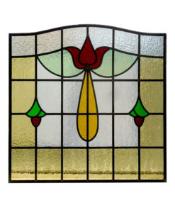 Detailed Stained Glass 1930s Panel