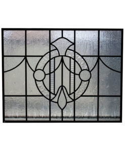 Plain Stained Glass 1930s Panel