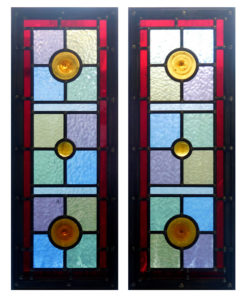 Simple Victorian Stained Glass Panels