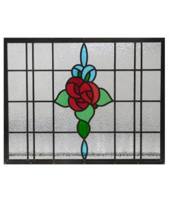 Floral Bouquet Stained Glass Panel