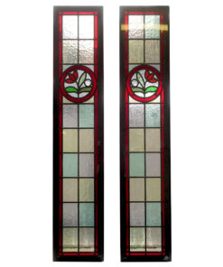 Floral Circle Stained Glass Panels