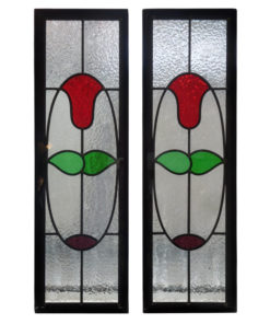 Simple 1930s Stained Glass Panels