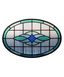 Round Contemporary Stained Glass Panel