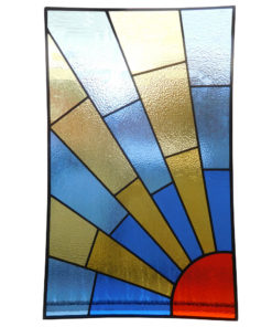 1930s Sunrise Stained Glass Panel