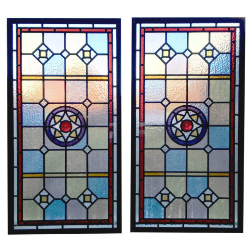 Intricate Stained Glass Victorian Panel