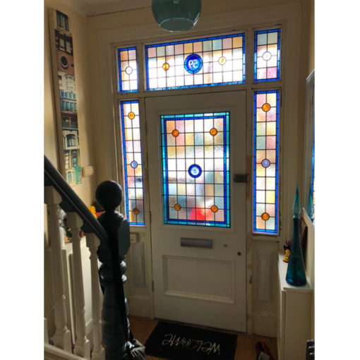 BD01 - Hardwood Two Panel Front Door Fitted