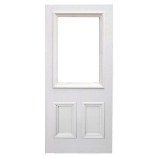 BD02 - Traditional Hardwood Three Panel Front Door
