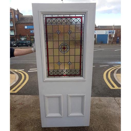 BD02 - Traditional Hardwood Three Panel Front Door Design