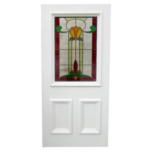 BD02 - Traditional Hardwood Three Panel Front Door With Glazing